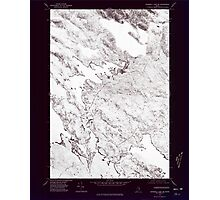 Maine USGS Historical Map Scraggly Lake SW 807133 1975 24000 Inversion Photographic Print
