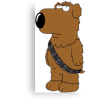 Brian Family Guy Chewbacca Canvas Print