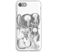 Candles. Abstract still life drawing iPhone Case/Skin
