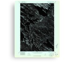Maine USGS Historical Map Scraggly Lake SW 807133 1975 24000 Canvas Print