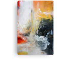 Orange Black Abstract Print  Canvas Print