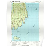 Maine USGS Historical Map Seal Harbor 102950 1983 24000 Poster