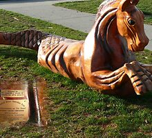 Hippocampus ( Wood Craving Winner) by Gail Bridger