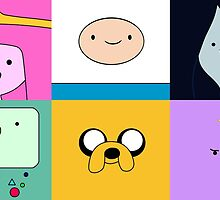 Adventure Time Character Faces by alyciathefox