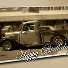 Old Ute Birthday Card by picketty