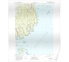 Maine USGS Historical Map Seal Harbor 460845 1983 24000 Poster