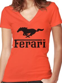 Funny Ferrari Shirt Women's Fitted V-Neck T-Shirt