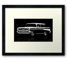 57 Chevy Wagon Framed Print