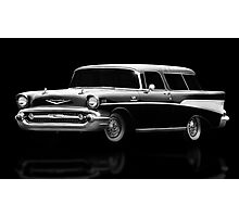 57 Chevy Wagon Photographic Print