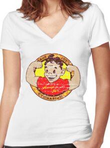 Average Joe's Gymansium Women's Fitted V-Neck T-Shirt