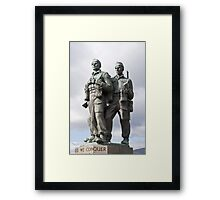 the commando memorial Framed Print