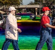 SexyMario - Rainbow Road Sticker