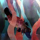 Cute swimming mr. Platypus by Kitty Rispens