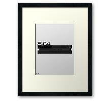 Simple Playstation 4 Design Framed Print