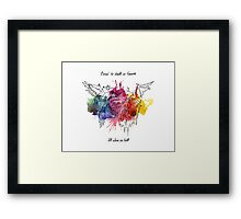 Bored in Heaven, Alone in Hell Framed Print