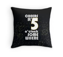 Cheers, Black Throw Pillow