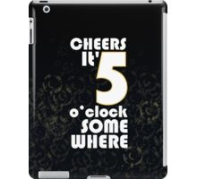 Cheers, Black iPad Case/Skin