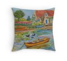 Typical stone house in Brittany  Throw Pillow
