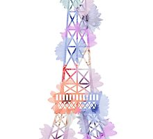 Flower Eiffel Tower Paris by MartaOlgaKlara