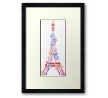 Flower Eiffel Tower Paris Framed Print