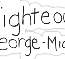 George-Michael for Student Body President Sticker
