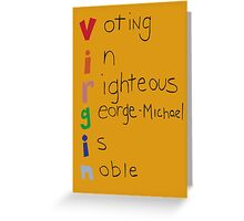 George-Michael for Student Body President Greeting Card