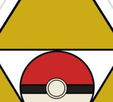 Triforce with Pokeball Sticker