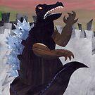 Ferocious Godzilla by Kitty Rispens