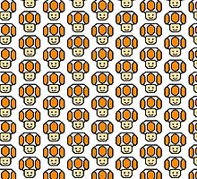 Pixel Orange Toad by poppetini