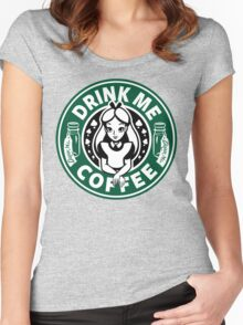 Drink Me Coffee Women's Fitted Scoop T-Shirt