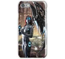 Robot Angel Painting 009 iPhone Case/Skin