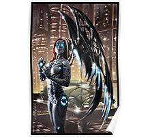 Robot Angel Painting 009 Poster