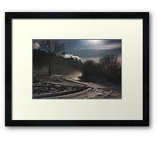 evening snowstorm Framed Print