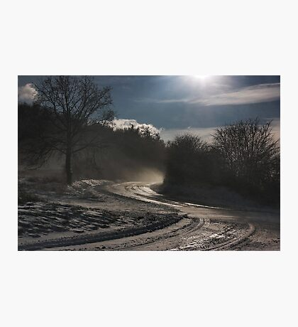 evening snowstorm Photographic Print