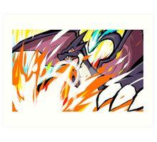 Shiny Mega Charizard Y   Overheat Art Print