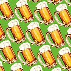 St. Patricks Day - Beer Pattern by Kelly  Gilleran