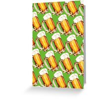 St. Patricks Day - Beer Pattern Greeting Card