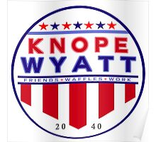 knope wyatt presidential campaign 2040  Poster