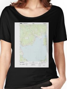 Maine USGS Historical Map Searsport 20110909 TM Women's Relaxed Fit T-Shirt