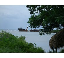 Pirated ship wreck Photographic Print