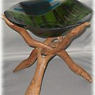 Asian Flavour Bowl in wooden stand by Kaz Rhoads
