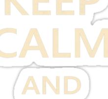 Keep Calm Paper Airplane 21a Sticker