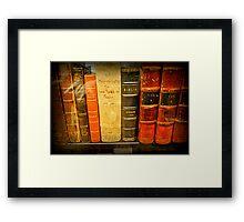 Jefferson's  Bookshelf Framed Print