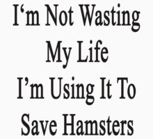 I'm Not Wasting My Life I'm Using It To Save Hamsters  by supernova23