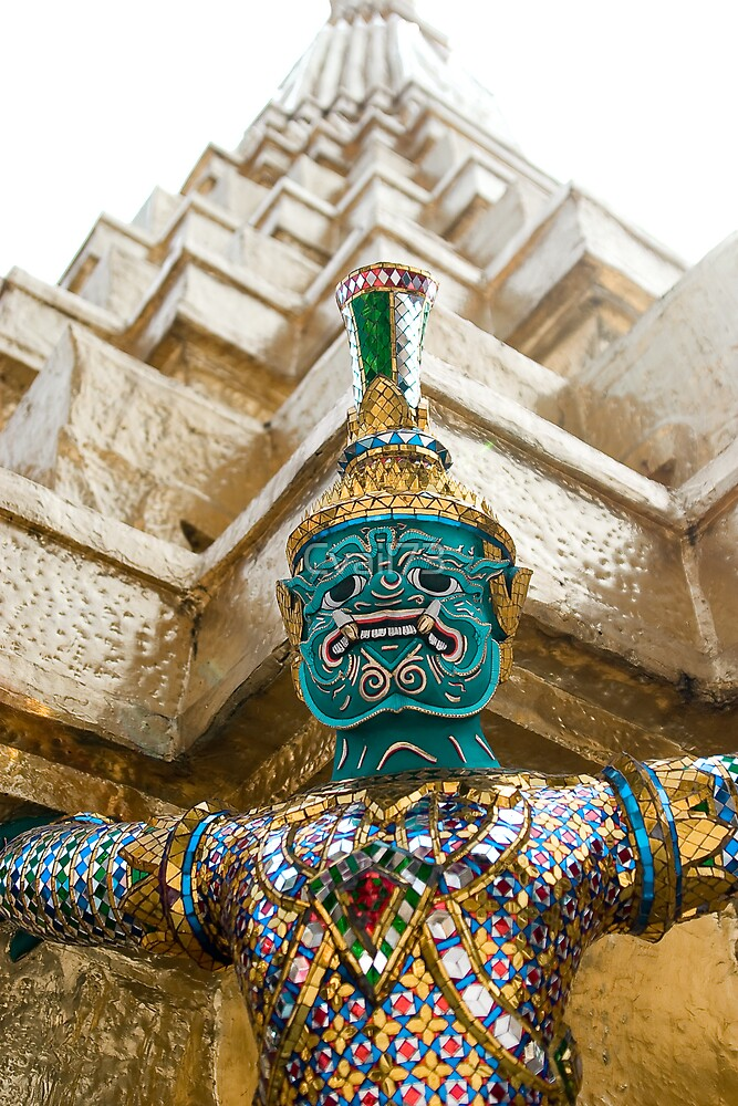Warrior of the Emerald Buddha temple by Cvail73