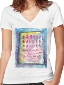 TULIPS.WHAT TULIPS(C2012) Women's Fitted V-Neck T-Shirt