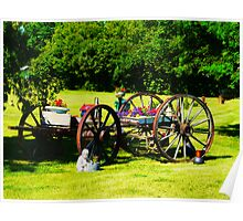 My Sis' Yard..Old Wagon Poster