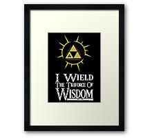 I wield (Wisdom) Framed Print