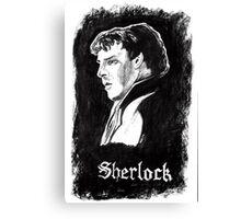 Sherlock in Charcoal Canvas Print