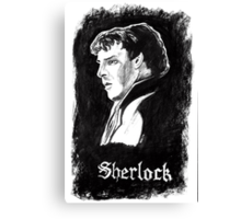 Sherlock in Charcoal Canvas Print